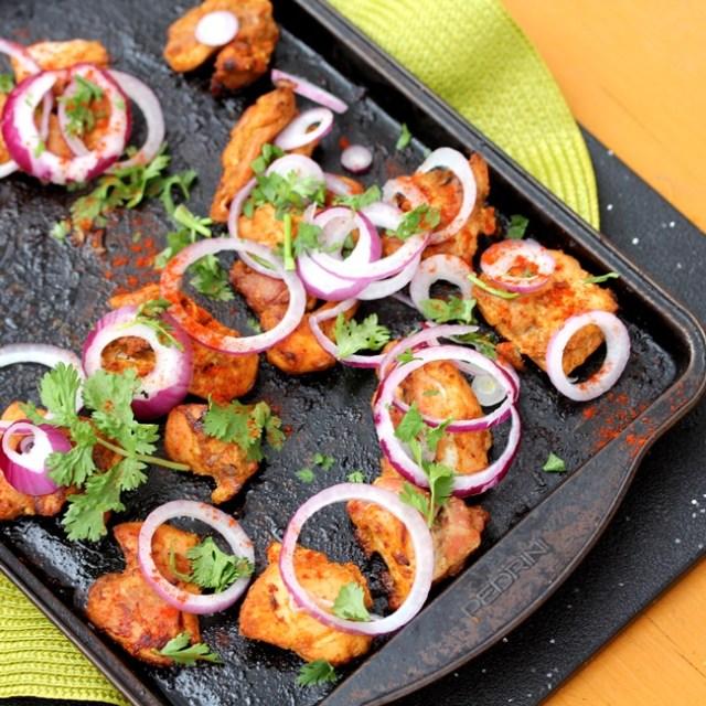 Chicken Tikka Tandoori Spice Marinated Chicken Kebabs