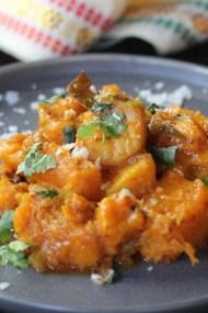Kumro Chingri - Bengali Butternut Squash with Shrimp