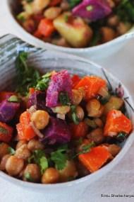 Tri_Color_Roasted Chickpea Salad