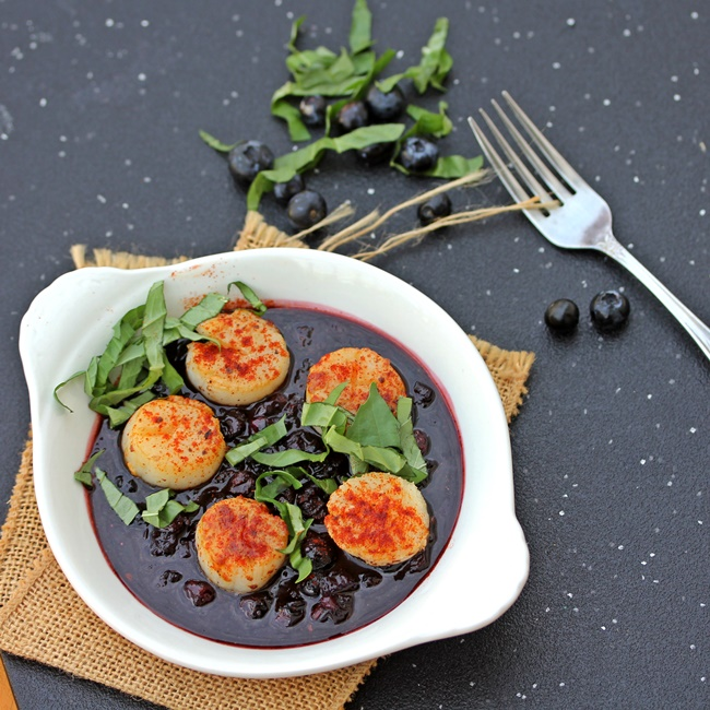 Blueberry Scallops