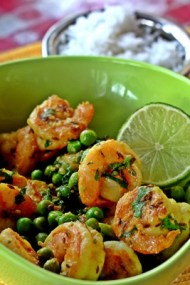 Cilantro Citrus Shrimp with Thyme and Green Peas