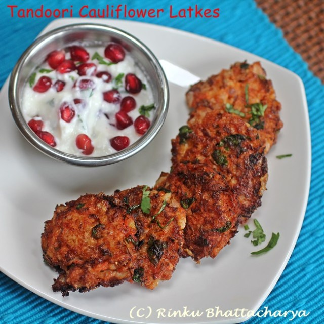 Tandoori Cauliflower Latkes