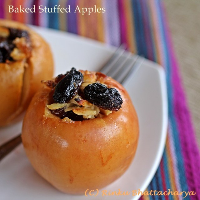Fruit And Nut Stuffed Baked Apples