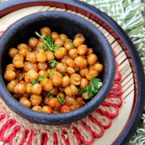 Fried Chickpeas with Mint and Cayenne