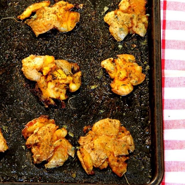 Smashed Potato Tikkas