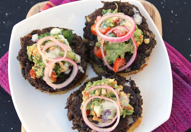 Black Bean Burgers with Lime and Cilantro
