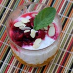 Coconut Tapioca Pudding with Mangoes and Raspberry