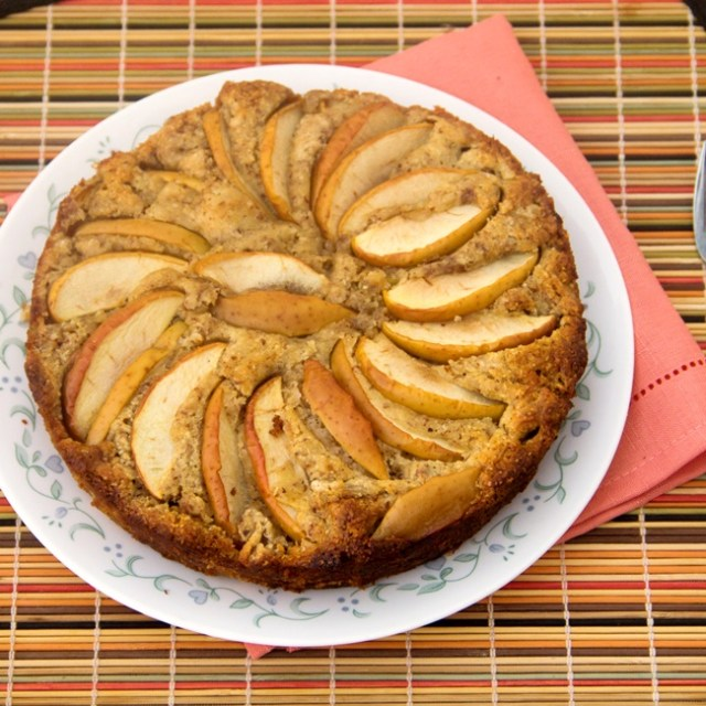 Apple Almond Yogurt Cake