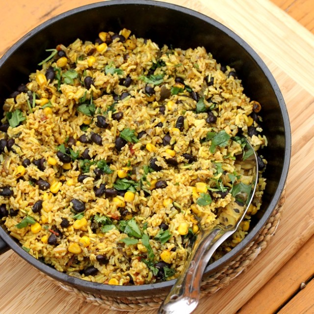Black Bean Salsa Rice (Instant Pot)
