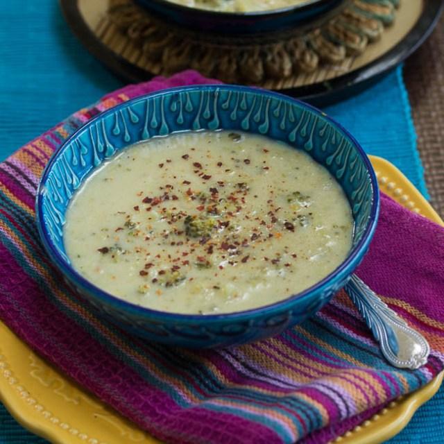 Lighter Broccoli Cheddar Soup (Instant pot or Stove Top)