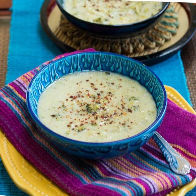 Lighter Broccoli Cheddar Soup