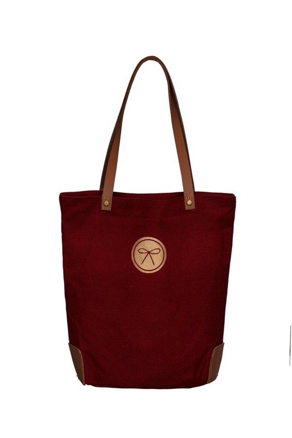 equestrian crest bag wine back