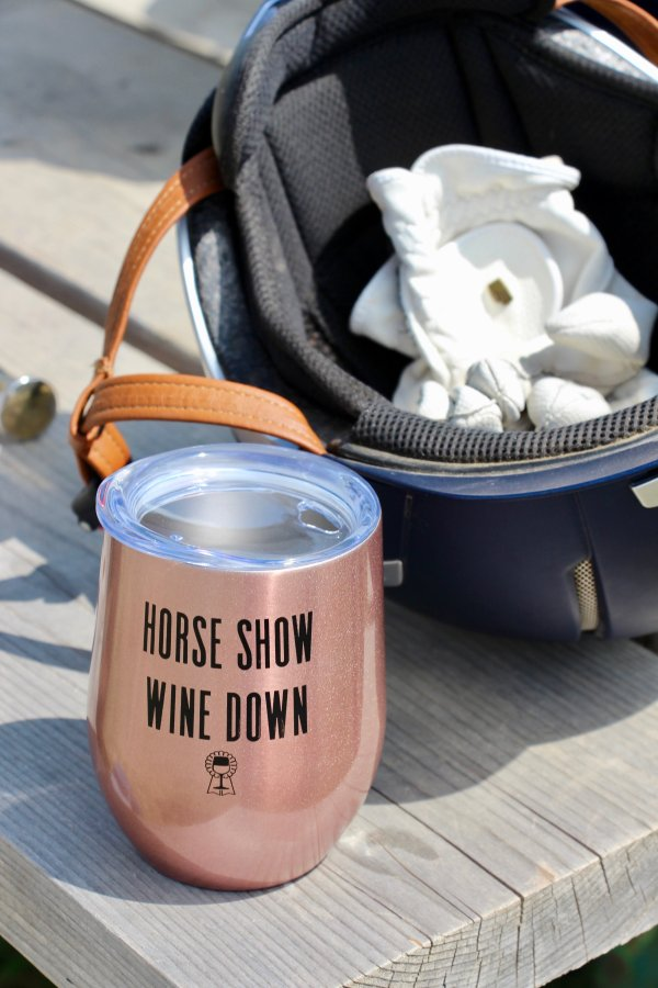 Horse Show Wine Down Rose Gold Cup