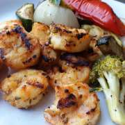 Grilled Greek Shrimp