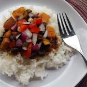 Black Beans and Autumn Vegetables