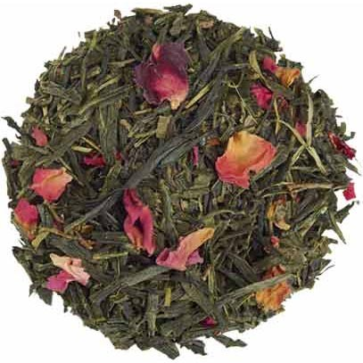 Japanese Sencha green tea flavored with Montmorency cherry and subtle rose.