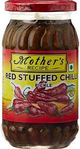 MOTHERS STUFFED RED CHILLI PICKLE 500G