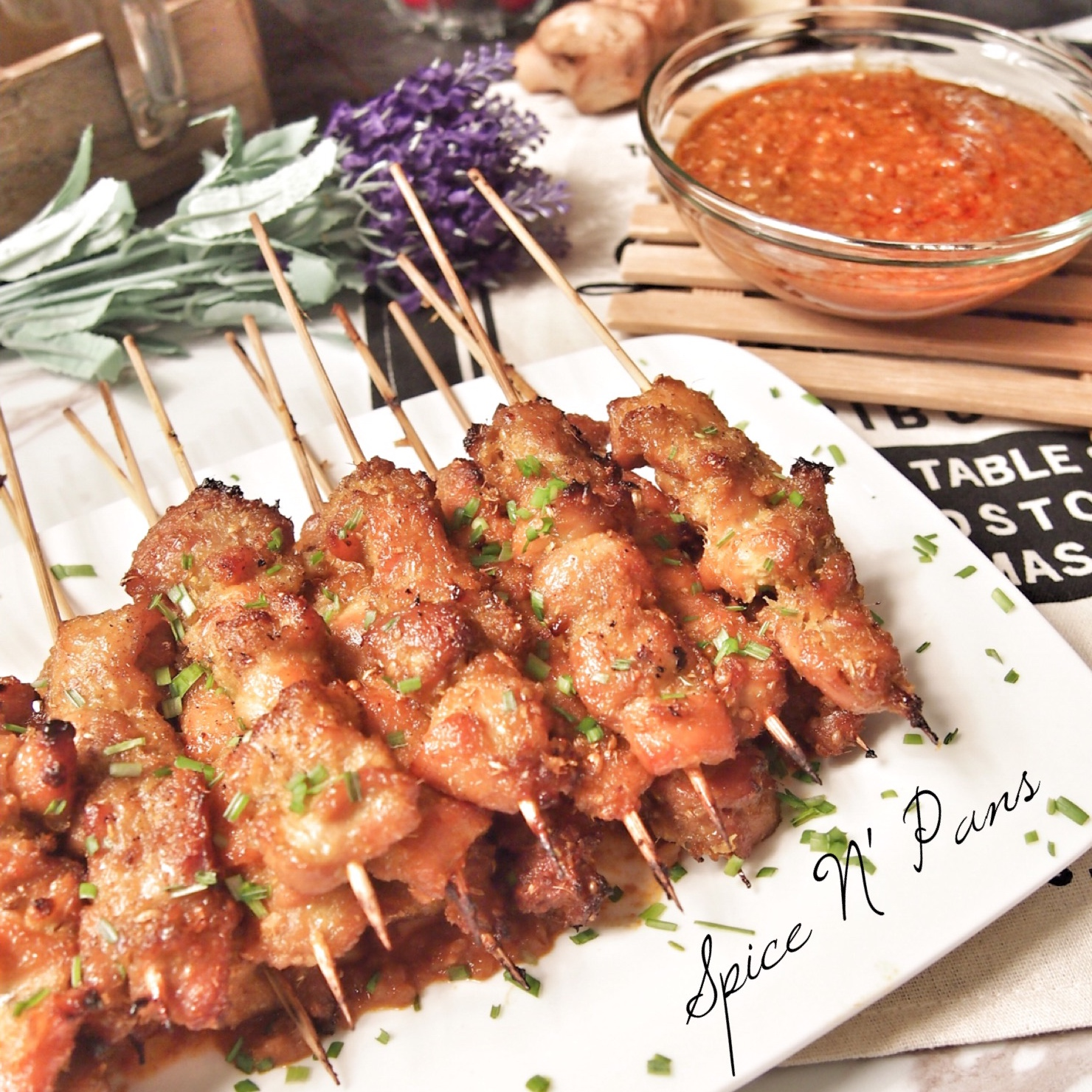 MOUTHWATERING Chicken Satay 香茅鸡肉沙爹 Lemongrass Chicken Skewers