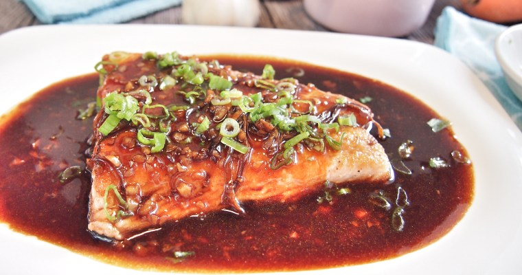 Oriental Style Salmon in Ginger & Garlic Sauce