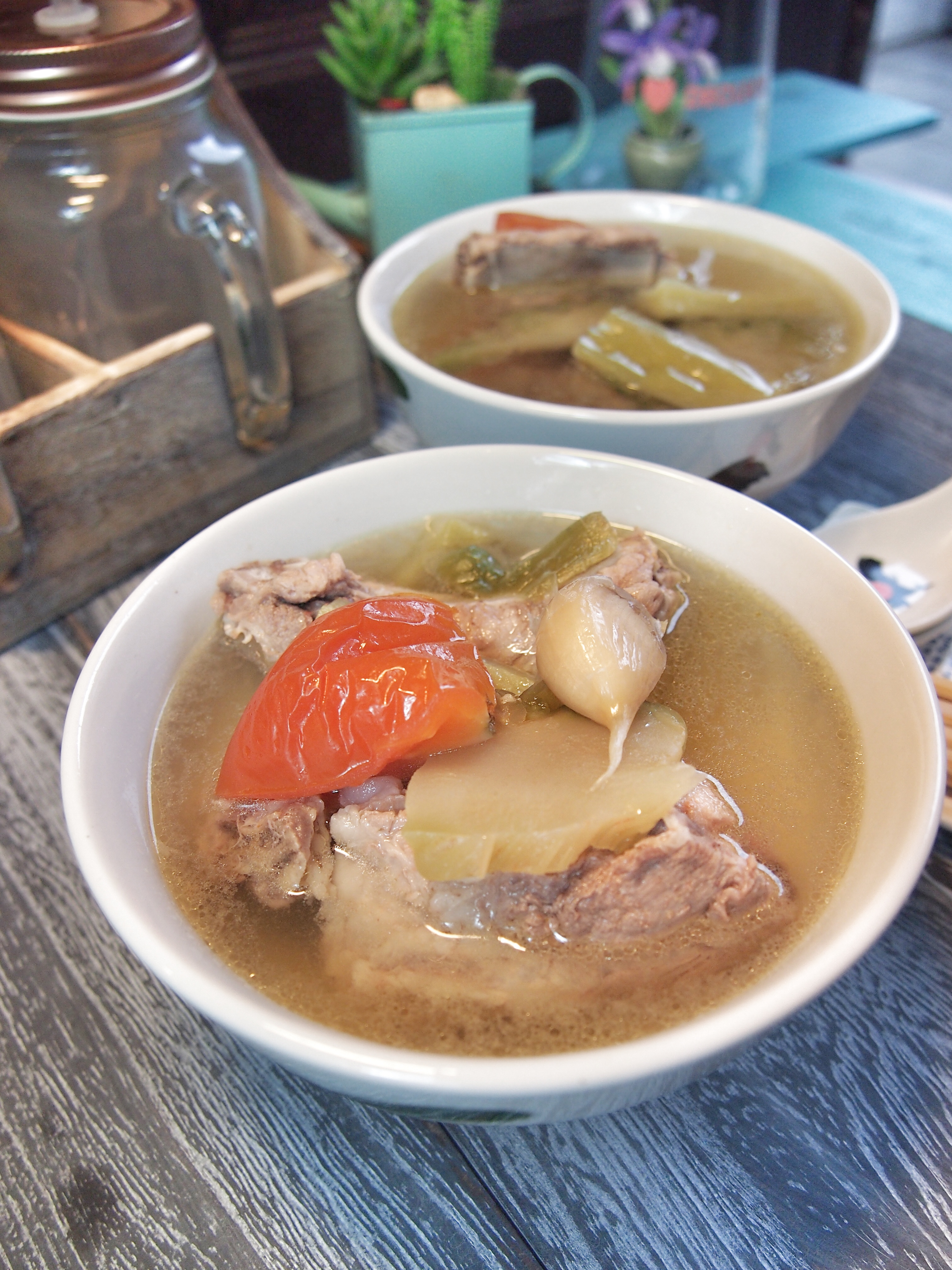 SUPER EASY Sichuan Vegetables & Bitter Gourd Soup 四川菜苦瓜排骨汤