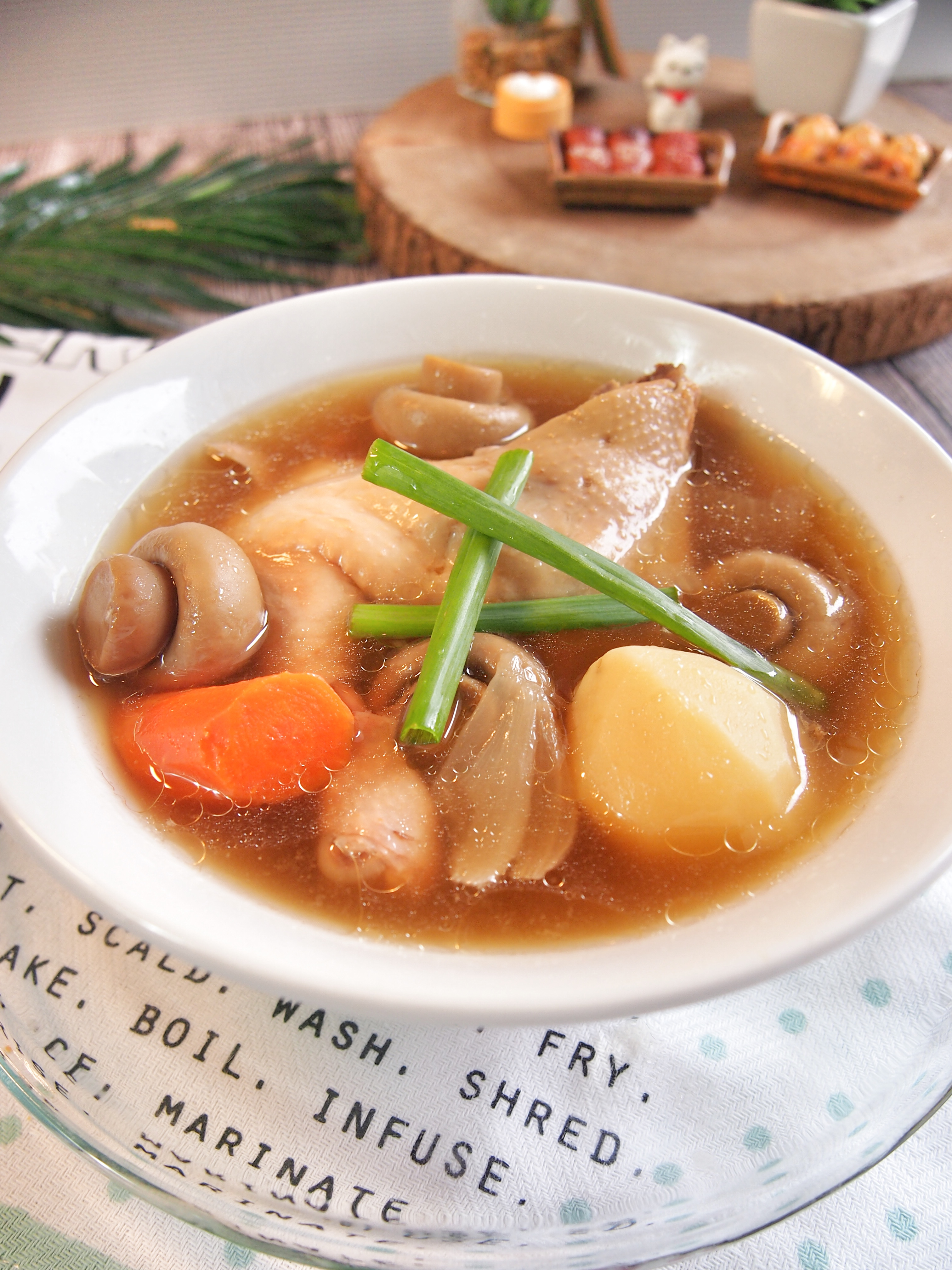 Simple Chicken Soup w/ Oyster Sauce 蚝油鸡汤
