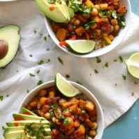 Roasted Butternut Squash and Chickpea Burrito Bowls
