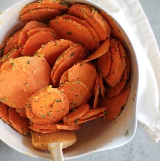 Parmesan Herb Sweet Potato Stacks