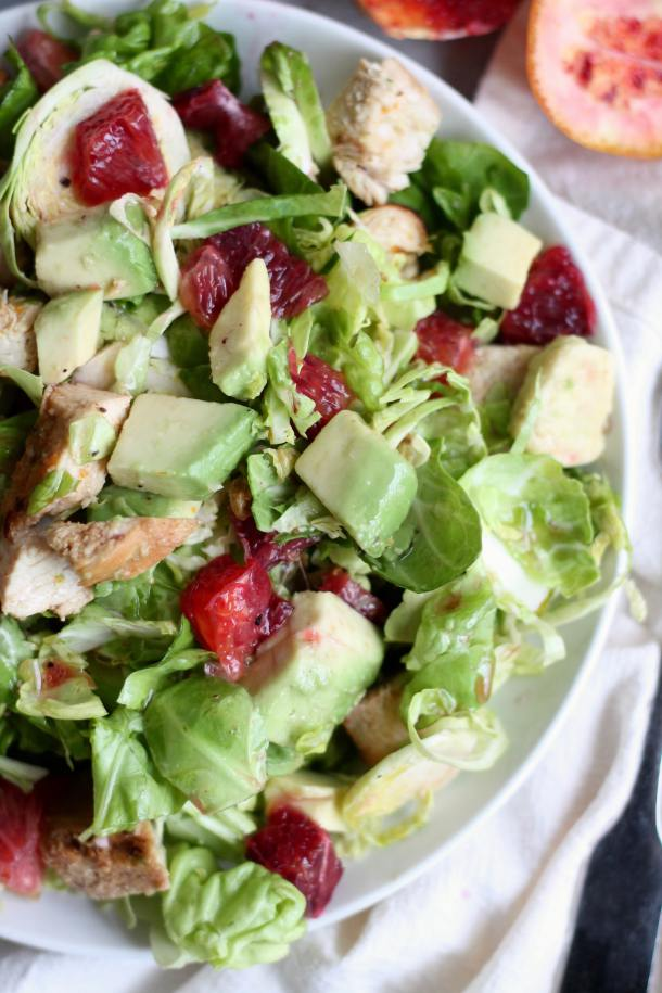Honey Citrus Chicken, Blood Orange, and Avocado Chopped Salad