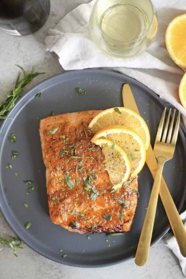 20 Minute Spiced Orange Herb Glazed Salmon