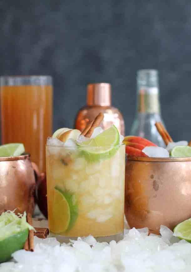 Bourbon Apple Cider Mules