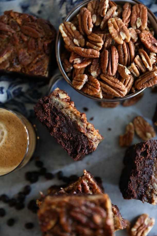 Pecan Pie Espresso Brownies