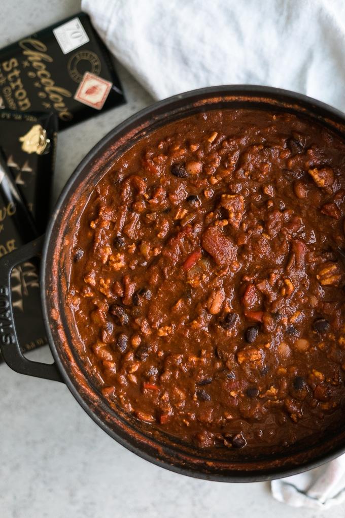 Chipotle Chocolate Turkey Chili