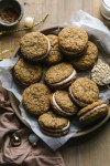 Brown Butter Chai Oatmeal Sandwich Cookies