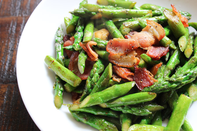 Bacon and Asparagus Stir-fry