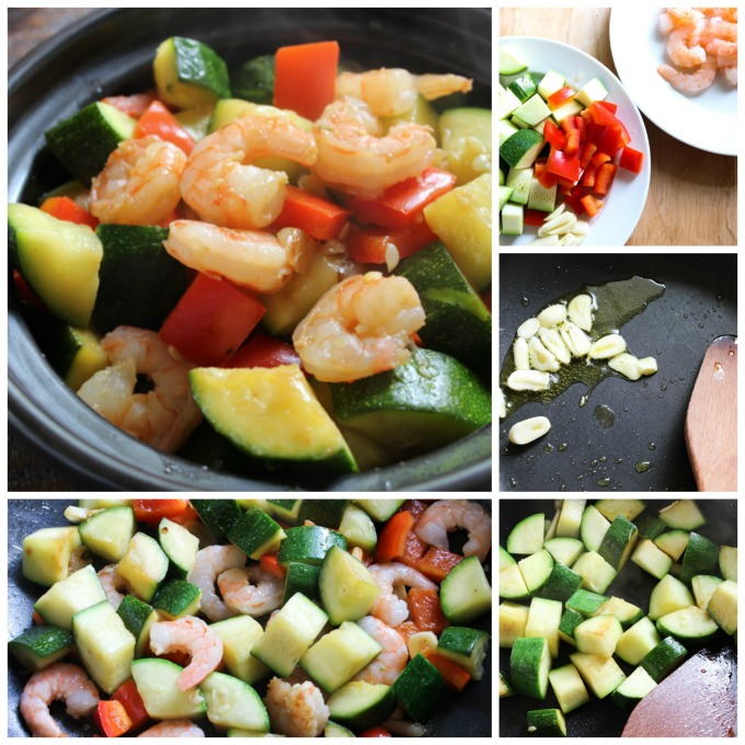Shrimp with Zucchini