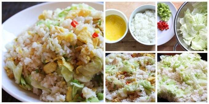 How to Make Cabbage fried rice