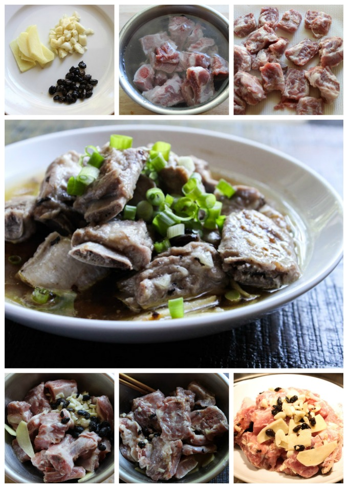 How to Make Steamed pork ribs with black bean sauce
