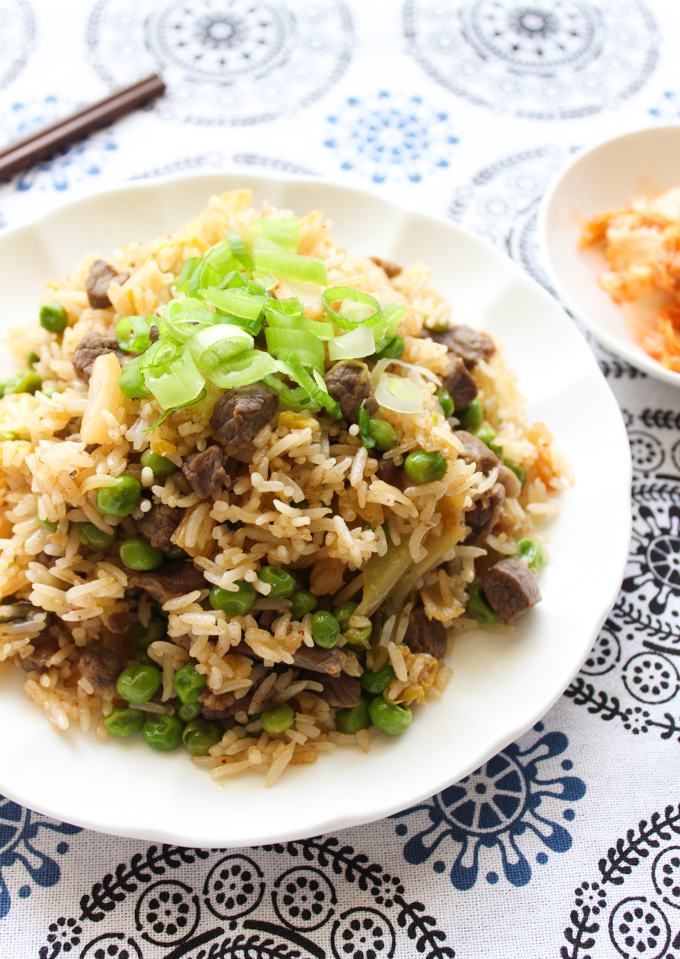 Beef and Kimchi Fried Rice Recipe