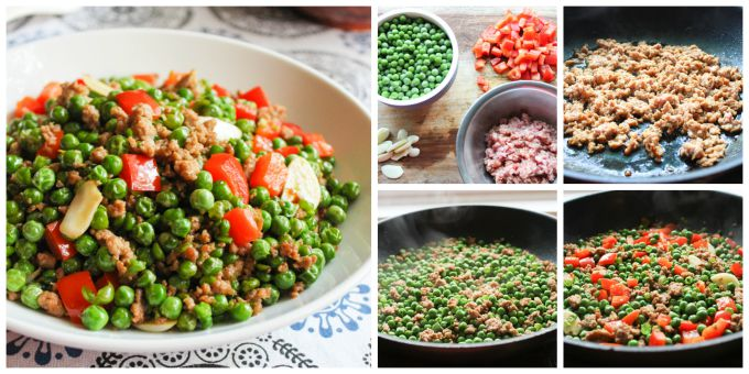 How to Make the Ground pork with English Green Peas