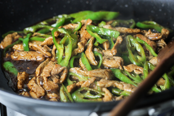 Stir Fry Green Pepper and Pork