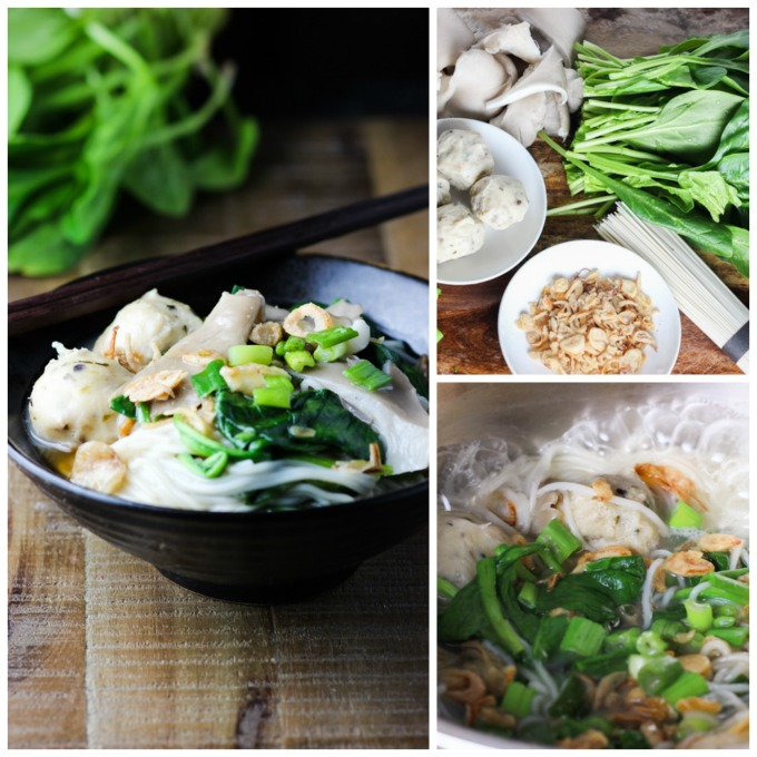 How to make Spinich and Mushroom Noodle
