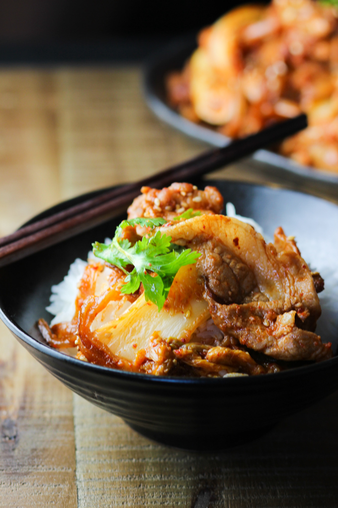 Pork Belly and Kimchi with Rice