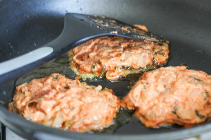 Homemade Kimchi Pancake Batters
