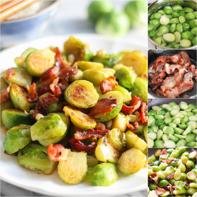 How to make bacon with Brussels sprouts