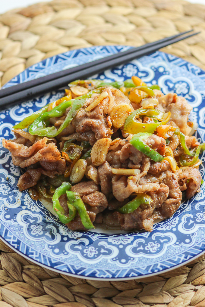 Green Pepper and Sliced Pork feature
