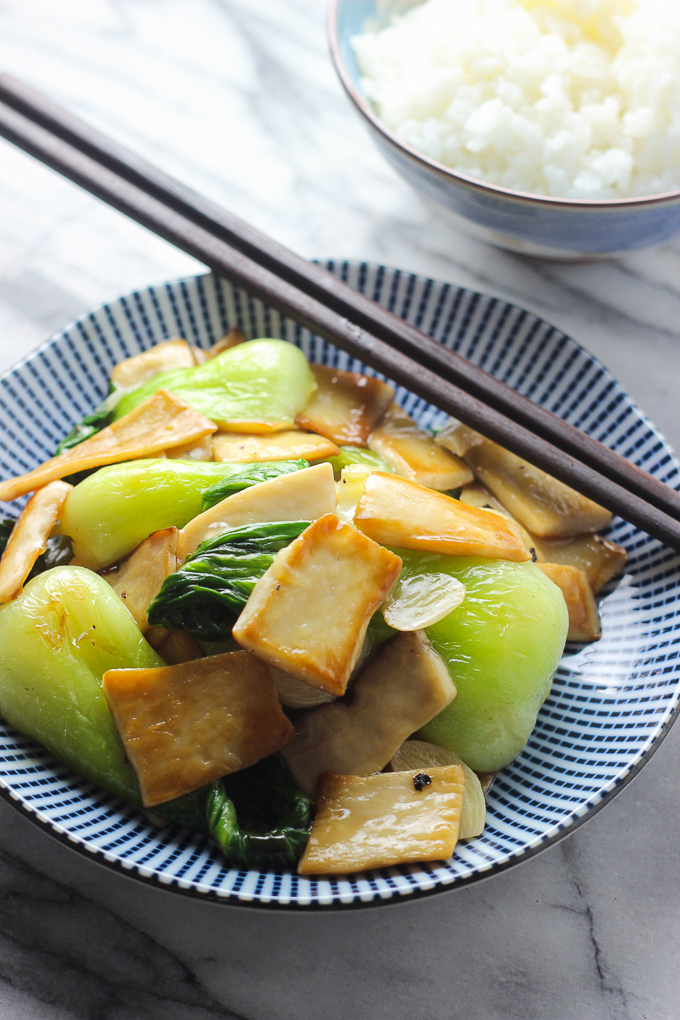 Mushroom and Bok Choy Stir Fry-28