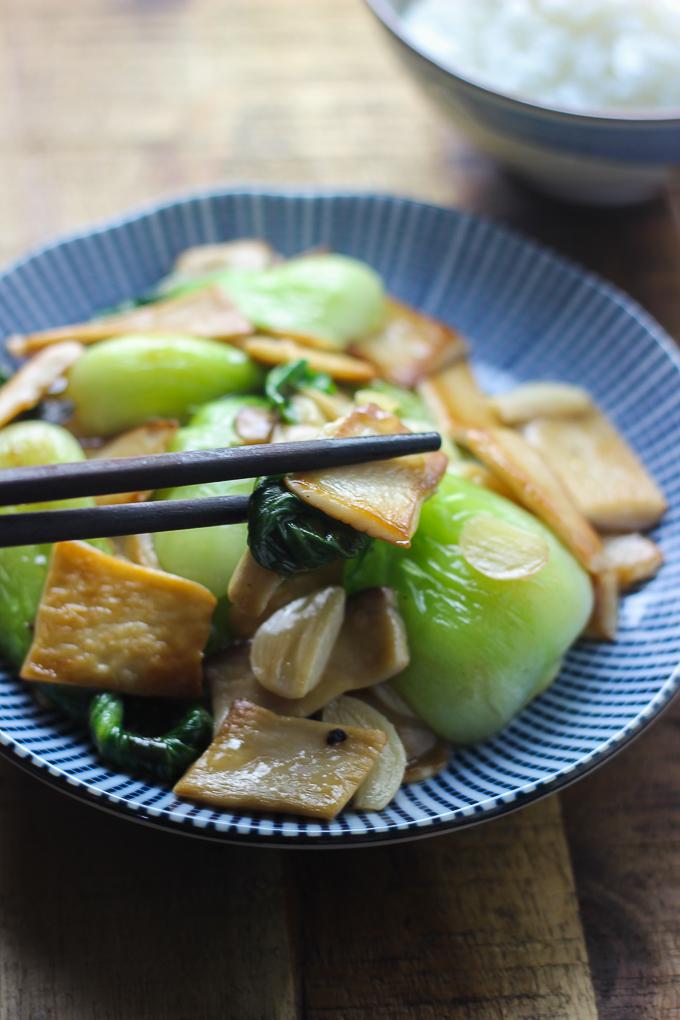 Mushroom and Bok Choy