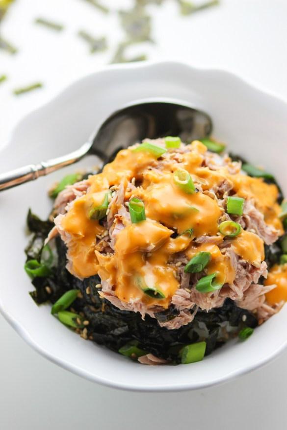 Tuna Rice Bowl with Thousand Island Sauce