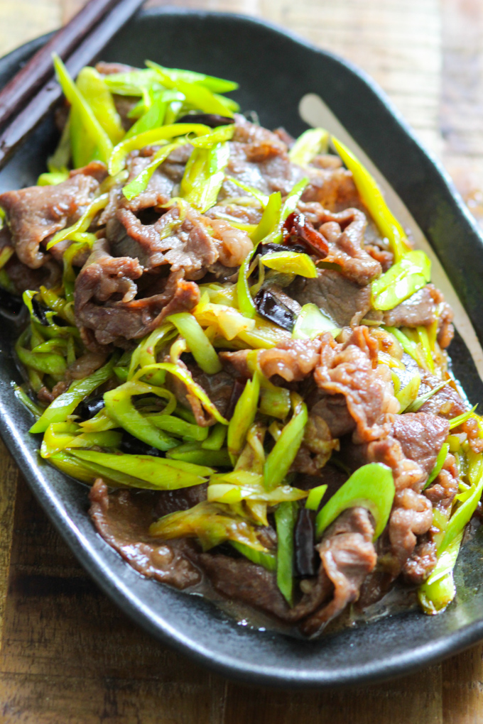 Stir Fried Beef With Leeks Spice The Plate