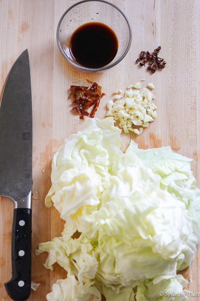 Szechuan Cabbage Stir Fry Ingredients